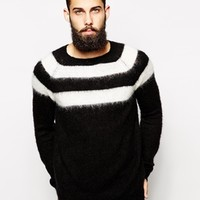 ASOS Stripe Jumper with Mohair at asos.com