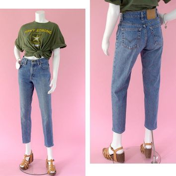 "Vintage Levi's 550 Denim Jeans Women's Size 5 ""Short"""