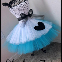 Alice in Wonderland Tutu dress | | Tutu dress| Halloween Costume | Newborn-5T listing