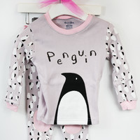 lil' belle toddler penguin pj set