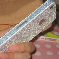 [grlhx110040]Silver Nice Shiny Rhinestone Fashion Sticker For iPhone 4/4S/5