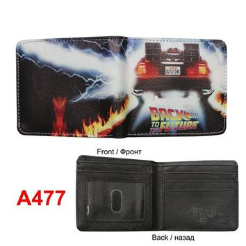 Fashion 2017 Mr Robot Portal American horror story Back to the future Supernatural Anime Wallet Leather Money bolsa Mens Purse