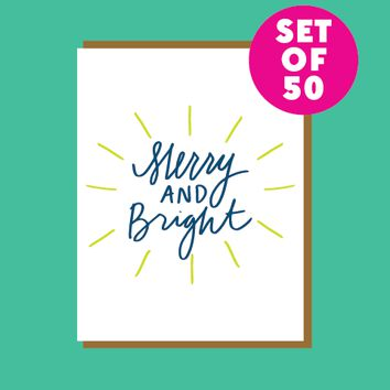 Merry and Bright Set of 50