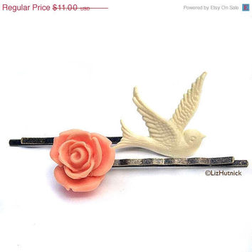 Christmas in July SALE Vintage Romance Bobby Pins