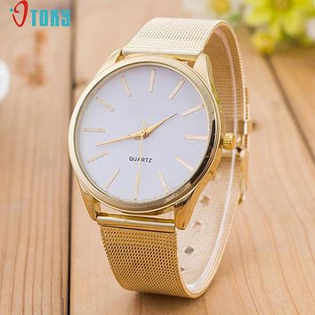 Watches OTOKY Willby Women Ladies Crystal Gold Mesh Band Wrist Watch 161213 Drop Shipping