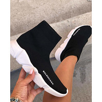 Balenciaga Woman Men Boots Fashion Breathable Sneakers Running Shoes-8