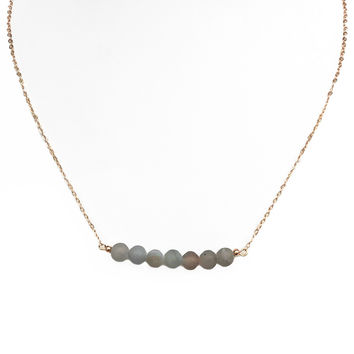 Clear Sky Rounded Stone Necklace