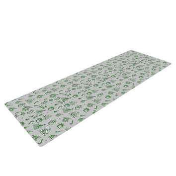 "Snap Studio ""Miniature Christmas Green"" Gray Yoga Mat"