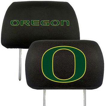 Oregon Ducks 2-Pack Auto Car Truck Embroidered Headrest Covers
