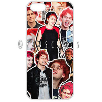 Mixed collage case - Michael clifford in red hair.