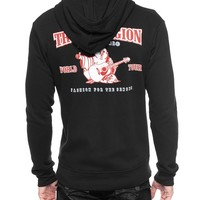 True Religion Double Puff Hoodie - Black