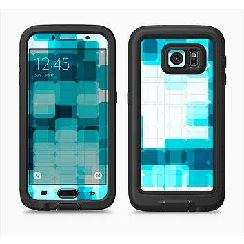 The Vibrant Blue HD Blocks Full Body Samsung Galaxy S6 LifeProof Fre Case Skin Kit