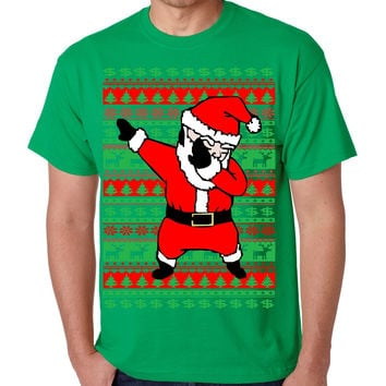 Dabbing santa ugly christmas sweater men T-shirt