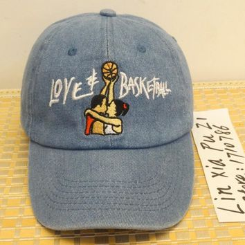 Denim Love & Basketball Movie Dad Cap Hat OG 90s Vtg Retro Style fashion leisure CASQUETTE snapback baseball