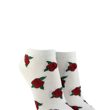 Rose Graphic Ankle Socks