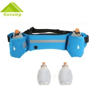 Outdoor Sport Cycling Running bag Jogging Walking Waist Belt Bag Pack Two Water Kettles Pot Holder Stander With 2 Water Bottles