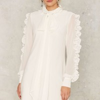 Say No More Ruffle Sleeve Dress