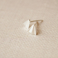 925 Sterling Silver Paper Plane earrings,lovely Paper Plane earrings