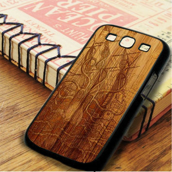 Vintage Kraken Wood Design Samsung Galaxy S3 Case