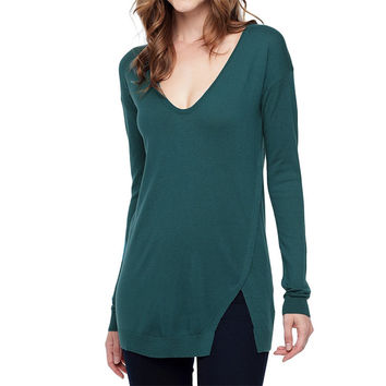 Splendid: Cashmere Blend Deep Neck Sweater