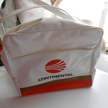 Vintage Continental Airlines Travel Bag still has tag on it