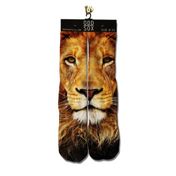 odd sox LION FACE hip hop skater novelty socks