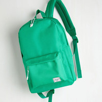 Travel, Scholastic Pack on Track Backpack in Kelly Green by Herschel Supply Co. from ModCloth