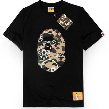 Camouflage cartoon print casual round neck short sleeve [11086495879]