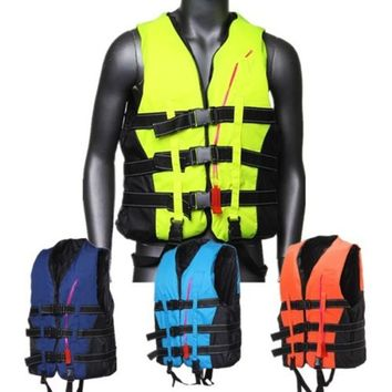 CAMTOA Traditional Life Vest Life Jacket Vest PFD Fully Enclose Foam Adult Boating Whistle (Size L to XXL)