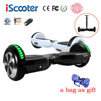 hoverboard BT Electric Skateboard steering-wheel Smart 2 wheel self Balance Standing scooter hover board a bag as gift