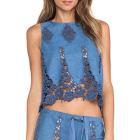 Miguelina Micha Tank in Blue