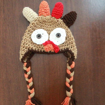 Crochet Turkey Hat Sizes Newborn Through Adult