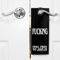 """Do Not Disturb"" Door Sign by Sik World (Black)"