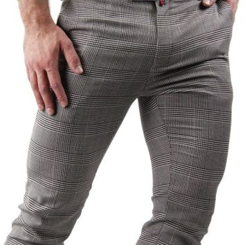 Slim Fit Houndstooth Pants