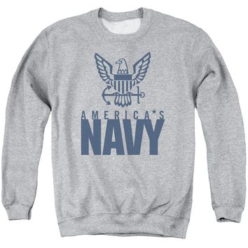 Navy - Eagle Logo Adult Crewneck Sweatshirt