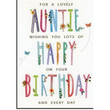 Happy birthday (auntie)