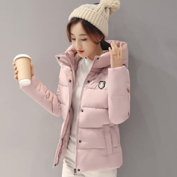 2016 Winter Hot sale Woman Hooded Down jacket  Warm Thick Coat Slim Thin Cotton jacket Large size High-quality Cotton coat  AB72