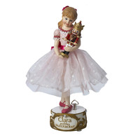 Santa's Little Helper Collection 10-Inch Musical Clara with Nutcracker Tablepiece