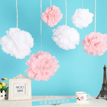"5""8"" 10"" Tissue Paper Pompoms Mix Color Party Decoration Baby Shower Wedding Decoration Event & Party Supplies Birthday"