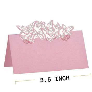 50 Butterflies Laser Cut Name Place Cards Wedding Guest Table Cards