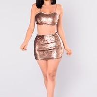 Arrie Sequin Set - Rose Gold