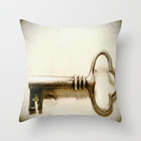 Skeleton Key Throw Pillow by Michelle Silsbee
