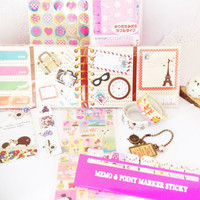 Planner Accessories Pack - Washi Tape Pendant Charm, Sticky Notes and Deco tapes