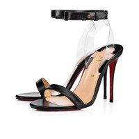Jonatina 100 Black/Transp Leather - Women Shoes - Christian Louboutin