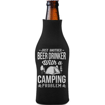 Beer and Camping Bottle Koozie