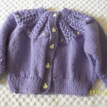 Hand Knitted Baby Sweater - Baby Cardigan - Handmade Baby Knit - New Born Baby - Knitted Bay Jacket -