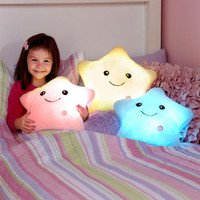 Color Changing Plush Star Kids Nighttime Soft Cuddle Buddy Pillow Boys Girls Toy