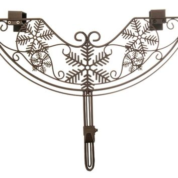 "24"" Brown Snowflake Style Adjustable Decorative Christmas Wreath Hanger"