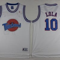 Lola Bunny #10 Space Jam Tune Squad Basketball Stitched Sewn Jersey White