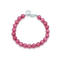 Tiffany & Co. -  Paloma Picasso® bead bracelet in rhodonite with sterling silver clasp.